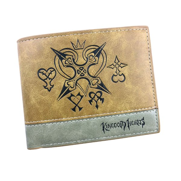 Kingdom Hearts Anime Short Wallet Women and Men PU Leather Multifunction Gift Pocket Money Bag