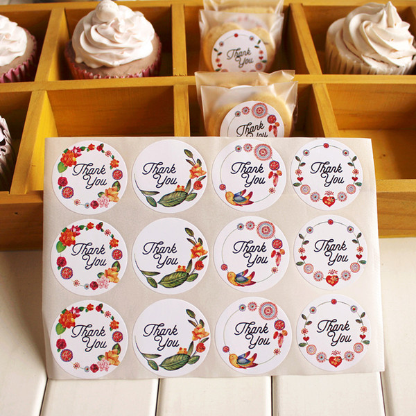 3.5CM round shape Thank you wedding favors guest gifts seal sticker gift wrapping sealing labels packaging labels party decorations