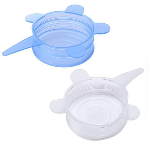 DHL NEW 6Pcs Universal Silicone Stretch Suction Pot Lids 100% Food-grade Environmental Protection Cooking Pan Spill Lids Bowl Stopper Cover