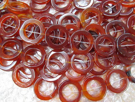 Hanmade onyx beads piedras preciosas de ágata Round Circle Donut verde amarillo rojo negro violeta púrpura ónix colgante cuentas 30-50mm filamento completo