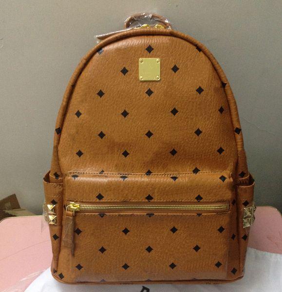 Wholesale- Fashion side rivets backpack luxury design high quality brand styles star love shoulder bag M-S-Mini-xmini N06