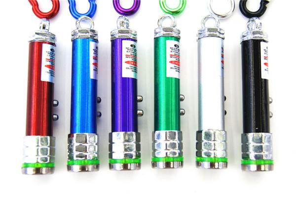 Factory direct flash mini flashlight laser small octagonal lamp key carabiner flashlight