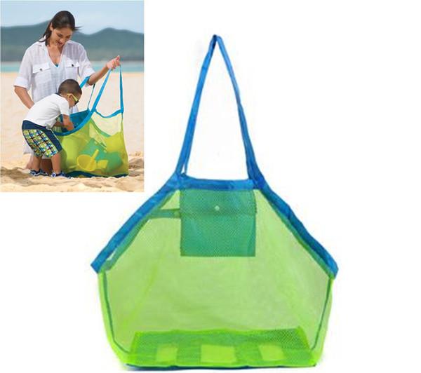 Bambini Sand Away Beach Mesh Bag Bambini Beach Toys Vestiti Asciugamano borsa bambino giocattolo collezione pannolino