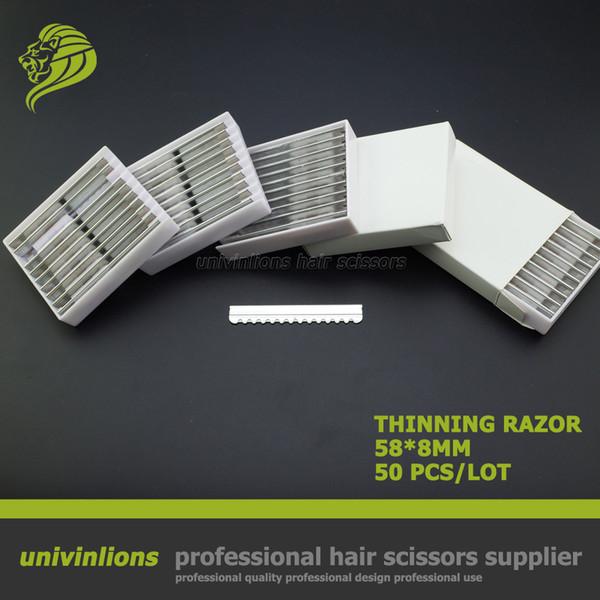 Wholesale- 50 pcs professional hair razor blade for hair cutting razor scissors razor thinning hair cut straight blade hairdresser supplies