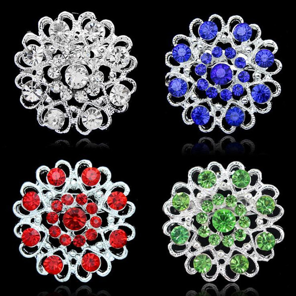 Crystal Heart Flower Brooches Rhinestone Hollow Love Heart Rose Brooches Pins Diamond Corsage Jewelry Men Women Wedding Party Jewelry Gifts