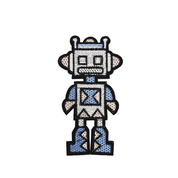 1 PCS Bonito Robô Bordado Patches para Sacos de Vestuário de Ferro em Apliques de Transferência de Patch para Jaquetas De Vestuário DIY Costurar em Bordado Emblema