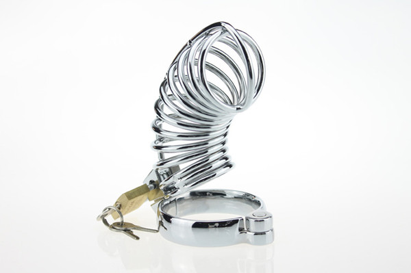 CB Silver Cock Cage Chastity Cage Device for Male Penis Exercise Metal Male Chastity Device Belt Cock Cages Men's Virginity 3 size Rings