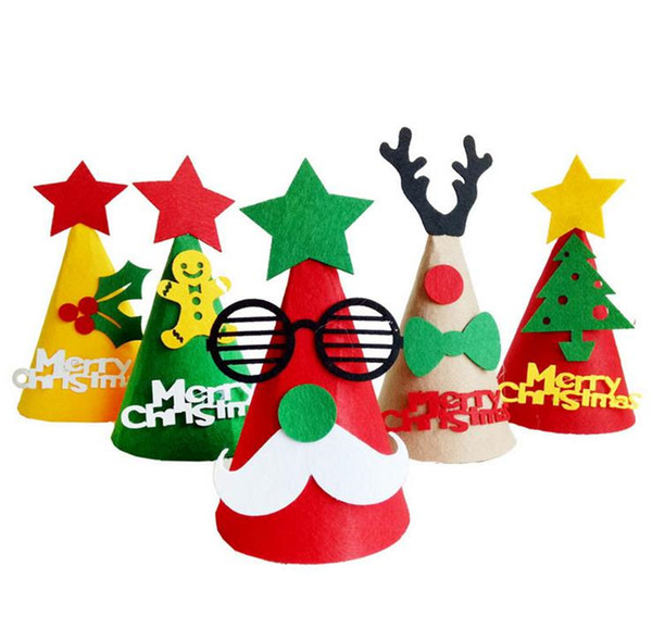 Awesome Christmas Hat Party Part - 3: Party Hats DIY Christmas Cap Handmade Favor Christmas Tree Reindeer Santa  Claus Hat Cap Makeup Ball Festive Gift Supplies JF-436