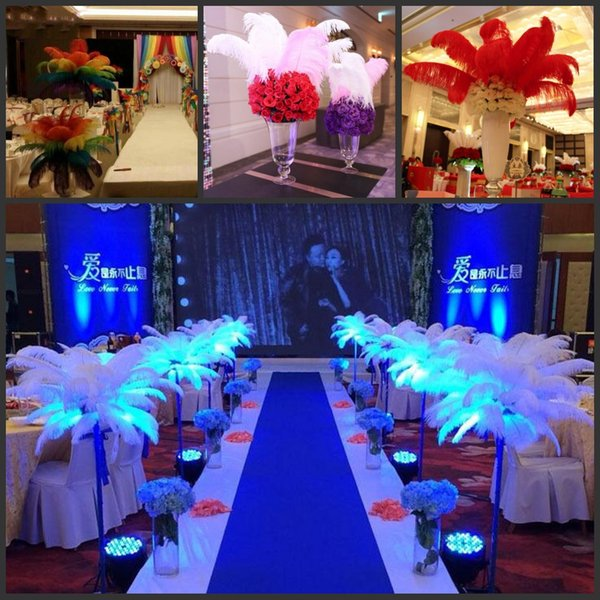 12colours DIY Ostrich Feathers Plume Centerpiece for Wedding Party Table Decoration Wedding Decorations 2017 hot selling 20-25CM