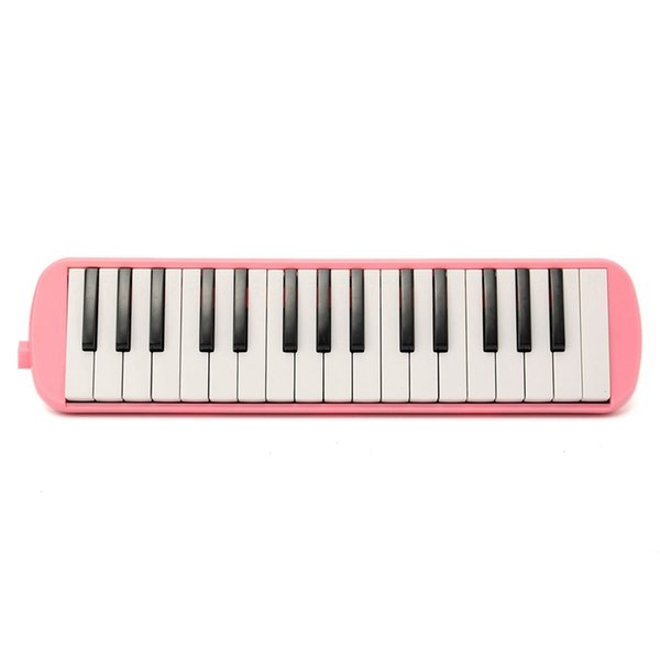 32 Keys Melodica Set Student Children Beginner Musical Instrument Keyboard Case Harmonica + Bag + Blowpipe Mouth Organ Pink/Blue