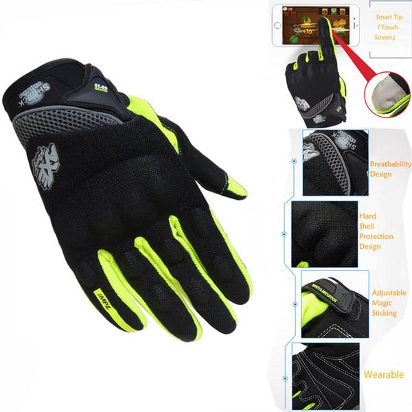 All'ingrosso- 2016 nuovi guanti moto stile completo dito touch screen indossabile guanti protettivi guanti moto