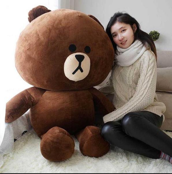 Hot Item! Line Office 47'' / 120cm Giant Stuffed Soft Plush Huge Cute Brown Bear, Free Shipping
