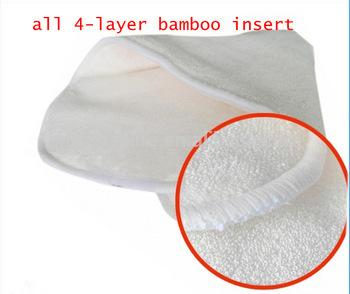 top popular Hot Sales Organic BambooTerry Inserts For Baby Cloth Diapers Nappy Liners 4 layers Free shiping 20pcs lot 2020