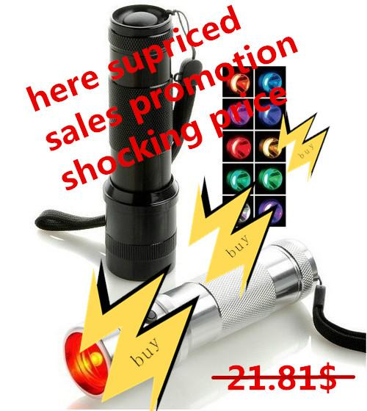 SUPRICED! Colorshine LED RGB Color Changing Torch Flashlight,3W Aluminium Alloy RGB Edison Multi color led flashlight rainbow of color Flash