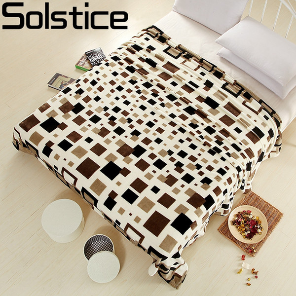 Wholesale- 2017 Family bedclothes Flannel blankets Single Double Bed Blanket Adults lattice bed sheets sofa/Travel/camping Portable Blanket