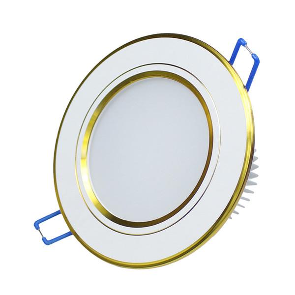 Großhandels-7W vertiefte LED Downlight-Decke führte Lichter AC110V 220V LED Punkt-Deckenleuchte für Hauptdekoration Weiß / warmes weißes kaltes Weiß