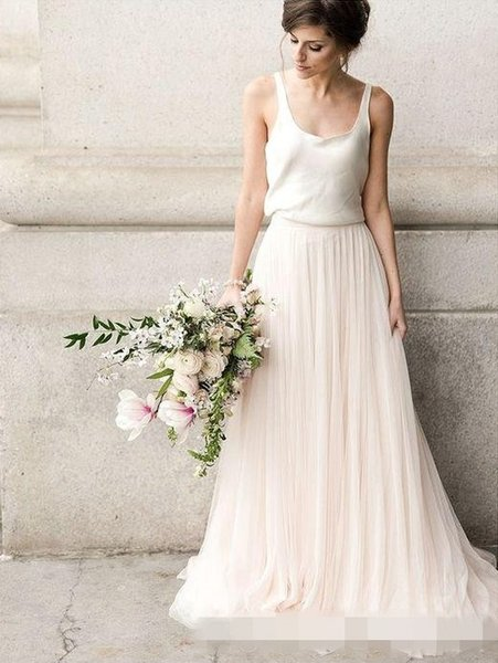 2017 Simple Sage Green Pink Tulle Bridesmaid Dresses A Line Wedding Guest Party Gowns Maid of Honor Dresses Cheap