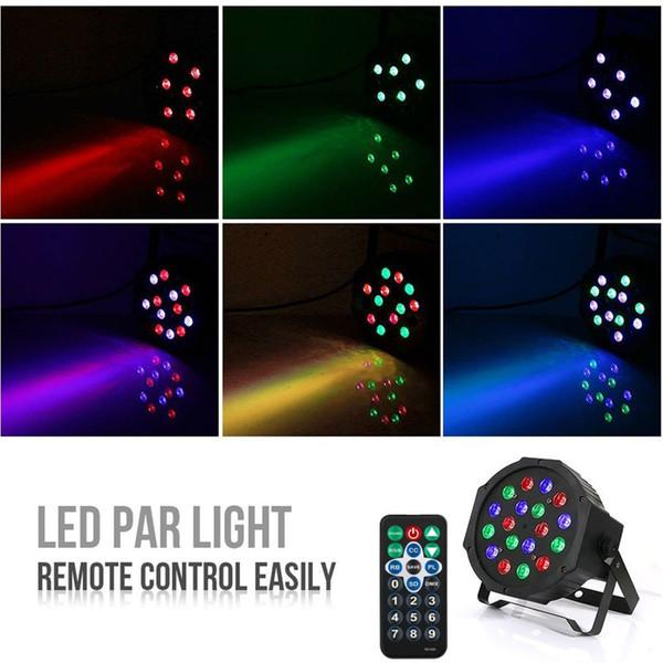LED Par Light RGB Magic Effect Stage Lighting Remote Control DMX512 Professional Led Stage Light For Party, KTV, Bar, Wedding 1pc