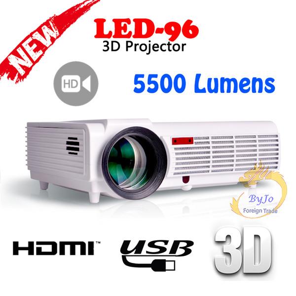 LED96 Video Projector HDMI USB 5500 Lumens 1280x800 Full HD 1080P Home theater projector LED projector 3D proyector