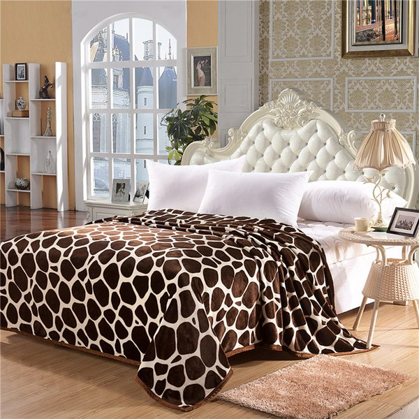 Sherpa Blanket Throw Fuzzy Bed Throws Fleece Thicken Rugs for Sofa Bed 3 Sizes