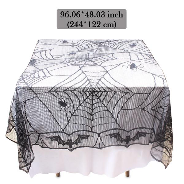 Скатерть крышка стола прямоугольный паук украшения партии комплект для Хэллоуина украшения полиэфирного волокна кружева дизайн