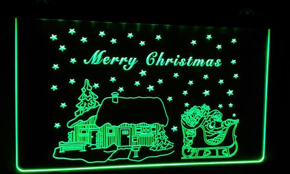 LD002-g-Merry-Christmas-Neon-Light-Sign Decor Free Shipping Dropshipping Wholesale 6 colors to choose