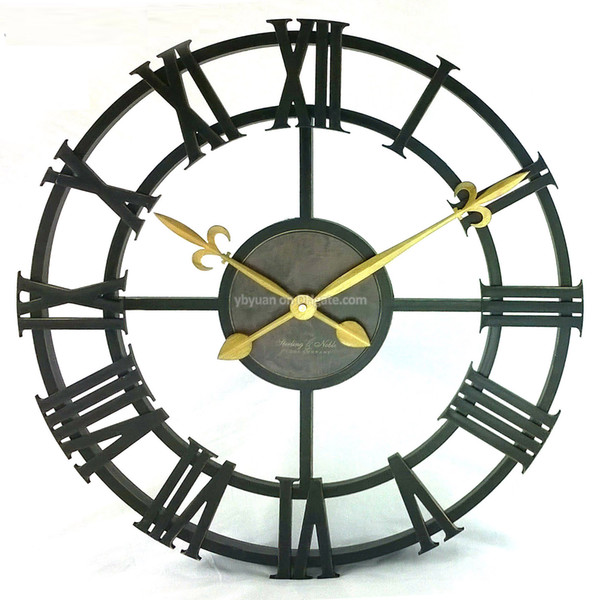 vente en gros horloge murale vintage de 17 pouces antiqued hollow