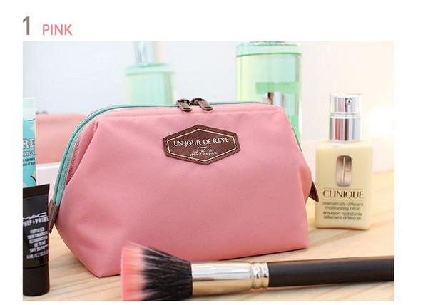 Women's Lady Travel Makeup Bags Cosmetic Bag Pouch Clutch Handbag Casual Purses Dumpling type cosmetic gift purse 4 colors Un jour de reve