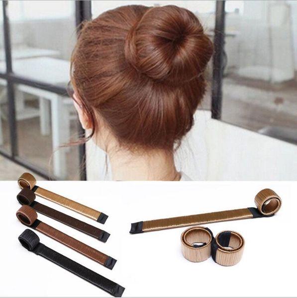 top popular DIY Tool Hair Synthetic Wig Donuts Bud Head Band Ball French Twist French Magic Bun Maker Sweet Hair Braiders 2019