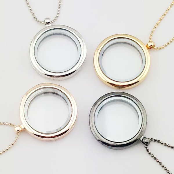 Europe and the United States burst section smooth round box box necklace glass frame pendant Valentine 's Day gift wholesale S132