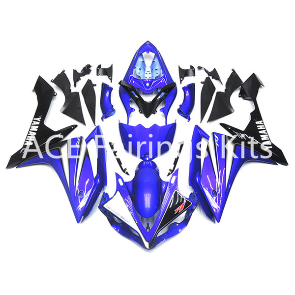 3 free gifts Complete Fairings For Yamaha YZF 1000 YZF R1 2007 2008 Motorcycle Full Fairing Kit Blue Black cool style