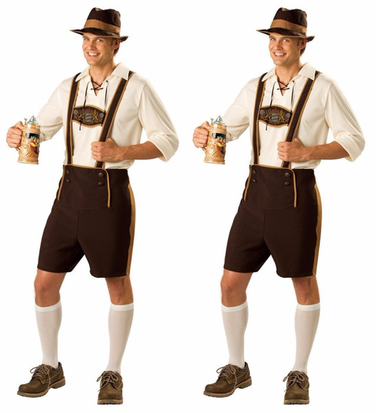 Adult Halloween Costumes For Men Hot German Beer Costume Adult Oktoberfest Beer Festival Costume Mens carnival Cosplay Costumes