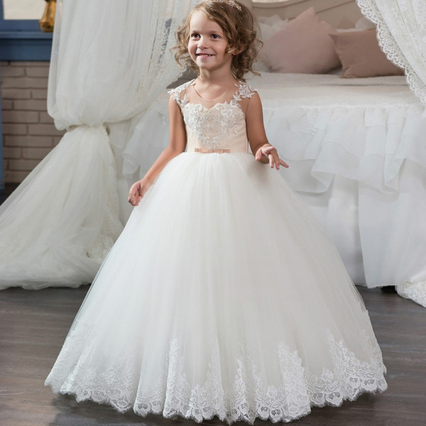 thoughts on new high quality look for Scoop Neckline Long Pageant Flower Girls Dresses For Little Girls 8 10 12  Corset Puffy Lace Tulle Ball Gown Kids Prom Dress Children Baby Girls Party  ...