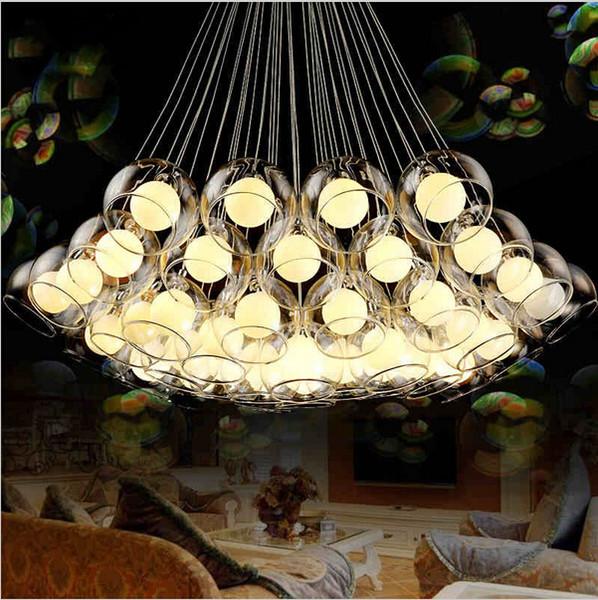 Modern art glass chandelier led pendant light for living room bar AC85-265V G4 Bulb hanging glass pendant lamp fixtures