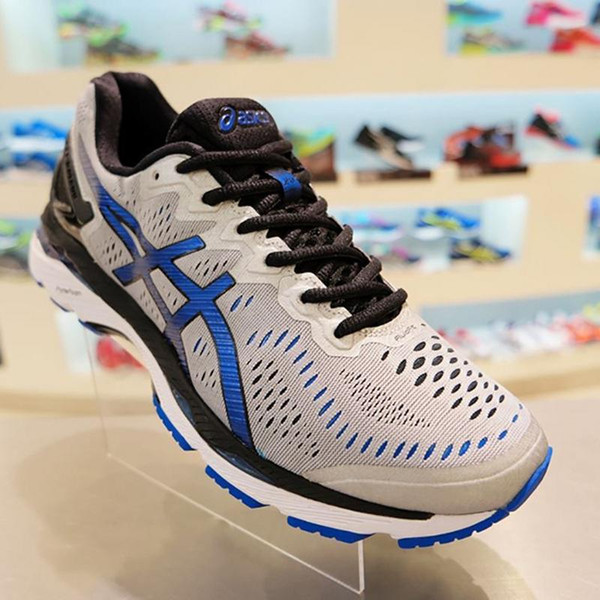 2018 Wholesale Price New Style Asics Gel-kayano 23 Running Shoes For Men Original Sneakers Athletic Sport Shoes Size 40-45 Free Shipping