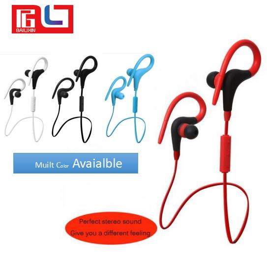best selling High Quality New Model BT-1 Handsfree Wireless Stereo Sports Headset CSR4.1 Bluetooth Headphone For Mobile Phone Free shipping