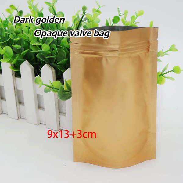 9*13+3cm Opaque foil Stand Bag Matte feel Self sealing Reusable Food packaging store Ornaments bags Spot 100/ package