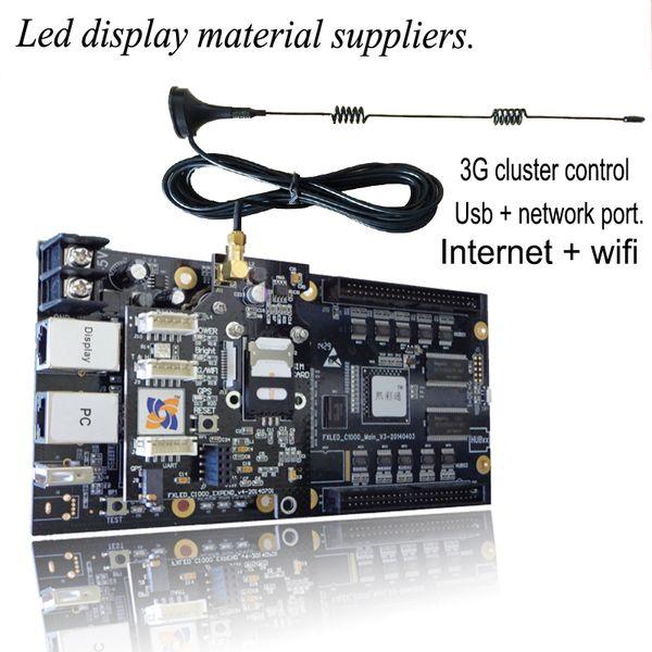 Carte de contrôle asynchrone sans fil Wi-Fi W1 écran couleur 3G système de contrôle de grappe système de prise en charge du texte image vidéo 4G