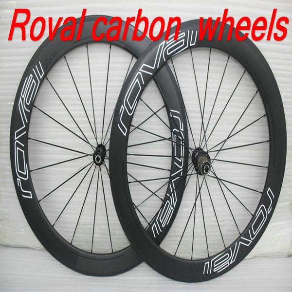 Spedizione gratuita Da EMS 50mm full carbon fiber bici da bicicletta ruote UD matt finisn copertoncino bici da strada ruote 23mm largo 700C wheelset in carbonio