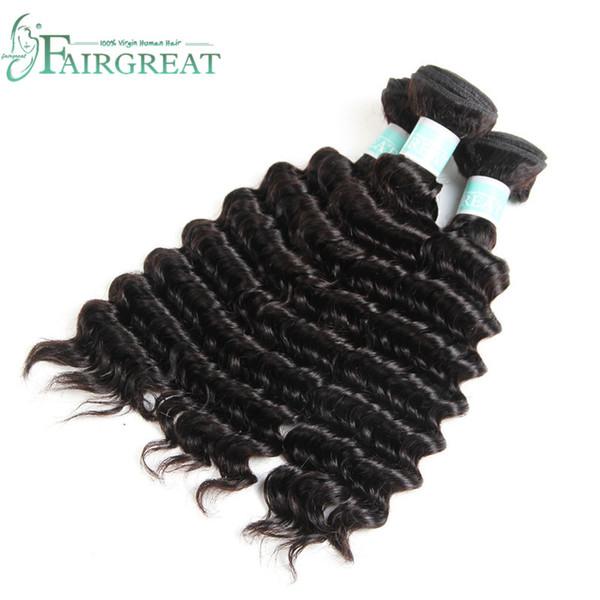 Tessuto brasiliano dei capelli vergini dell'onda profonda doppia trama 100% dei capelli umani che tessono colore della natura 10-24inch pacchetto malese indiano dei capelli malesi