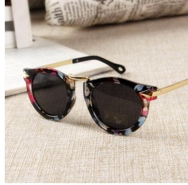 Baby Boys Girls Kids Sunglasses Vintage Round Sun Glasses Children Arrow Glass 100%UV Protection Oculos De Sol Gafas