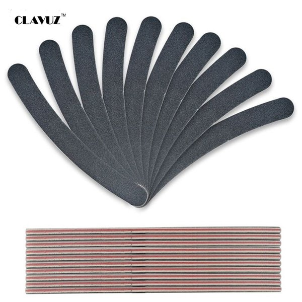 Wholesale- CLAVUZ 1pcs Professional Slim Sandpaper Nail Files Black Nail Art Manicure Buffer 2-way Nail Art Salon Block Buffing Tools
