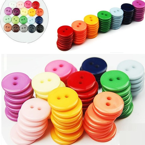 best selling Multi color Bulk Children's Clothing decorative Buttons Resin Scrapbook DIY Apparel accessories Sewing Accessories Tool BA071