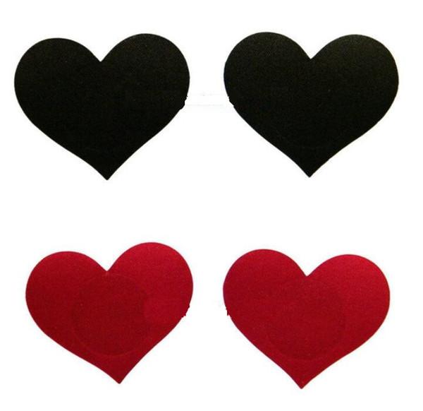 4 cores mamilo abrange forma de coração Segurança proteção ambiental tit tape mamilo adesivo pastéis 10 pares / lote