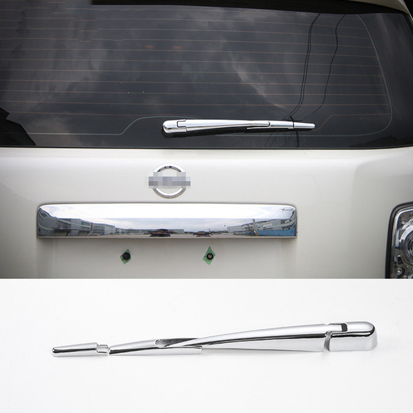 Car Rear Window Wiper Decoration Trim Strips Exterior Accessories Styling Chrome ABS Fit For Nissan Patrol 2017