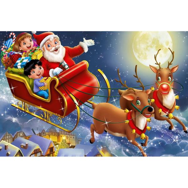 Weihnachtsmann Ölgemälde voller Bohrer DIY Mosaik Handarbeiten Diamant Malerei Stickerei Kreuzstich Handwerk Kit Wand Home Hanging Decor