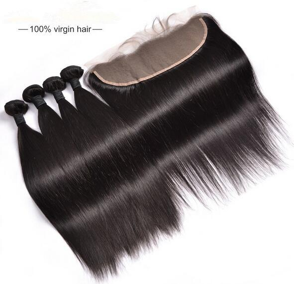 Virgin Remy Malaysian Human Hair 10A Grade Straight Lace Frontal Closure Free part Middle part 3 part Hair Closure Free Shipping