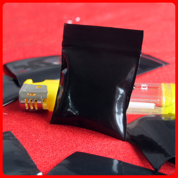 Black Opaque Mini Miniature Zip Lock Grip Plastic Packaging Bags Food Candy Jewelry Reclosable Thick PE Self Seal Small Package Storage Gift