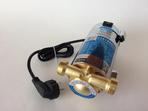 150 W 15L / Min 220 V auto de Acero Inoxidable eléctrico de gas eléctrico solar calentador de presión de agua Booster bomba de agua con tapón de protección contra fugas