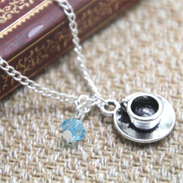 12 шт. / лот Алиса в Стране Чудес ожерелье чашка чая время очарование Алиса в Стране Чудес вдохновил Neckace